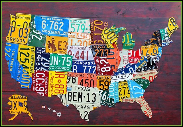 Us Map License Plates