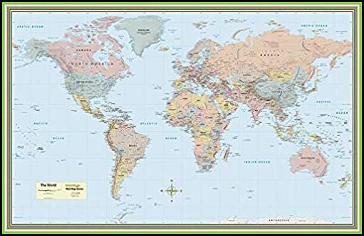 World Map Laminated