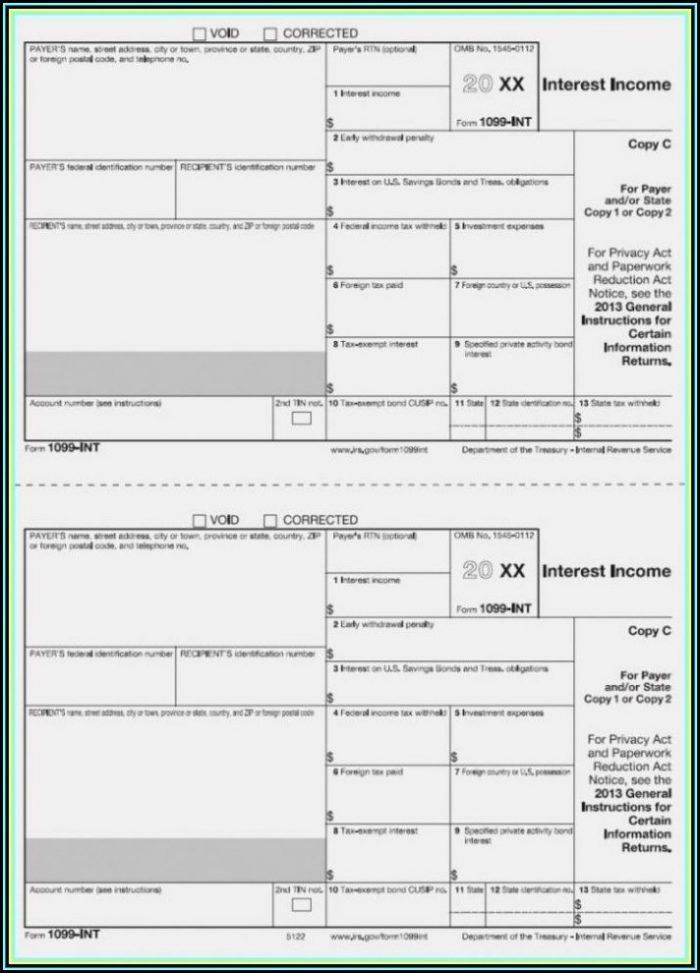 1099 Misc Form 2017 Fillable