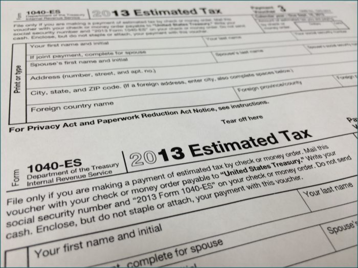 2013 Federal Income Tax Forms 1040a
