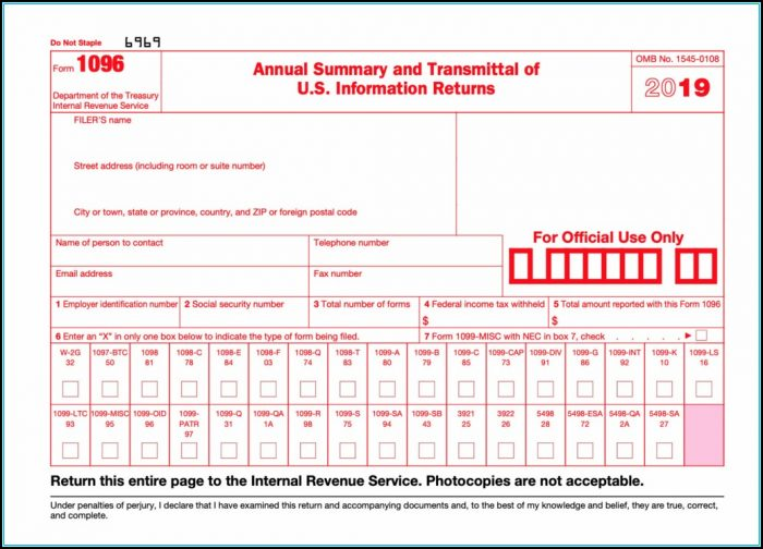 2014 Irs Form 1099 Misc