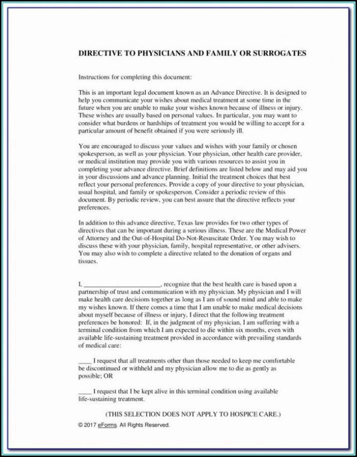 Advance Healthcare Directive Form 3 1