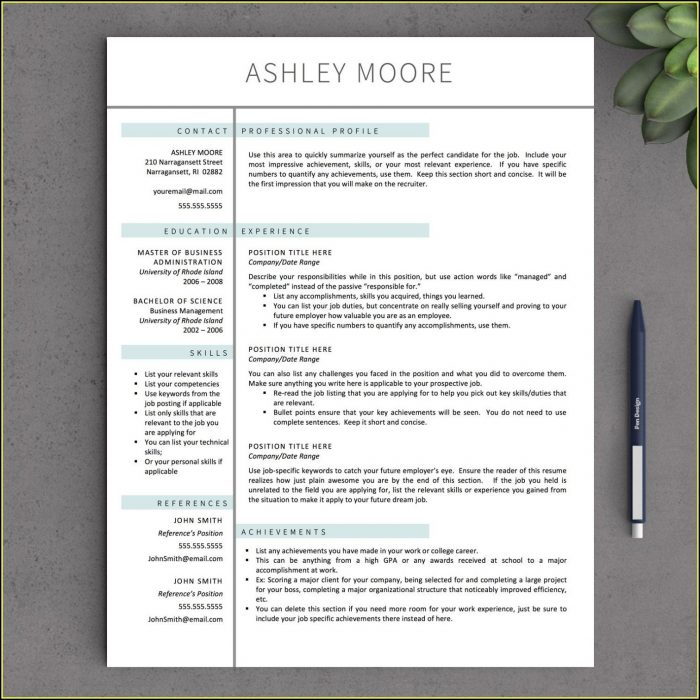 Cv Template For Mac Free