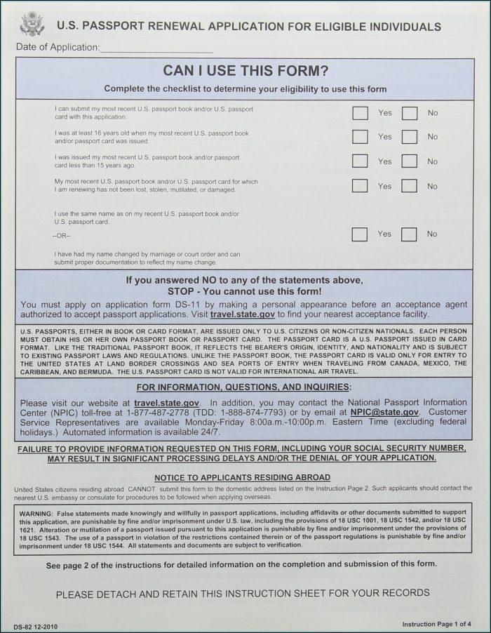 Ds 82 Form Passport Renewal