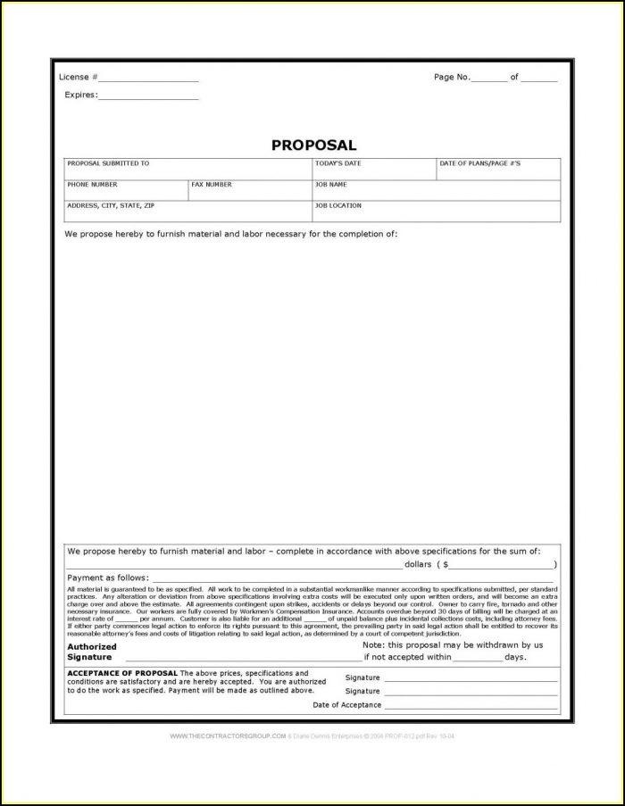 Free Downloadable Job Estimate Forms