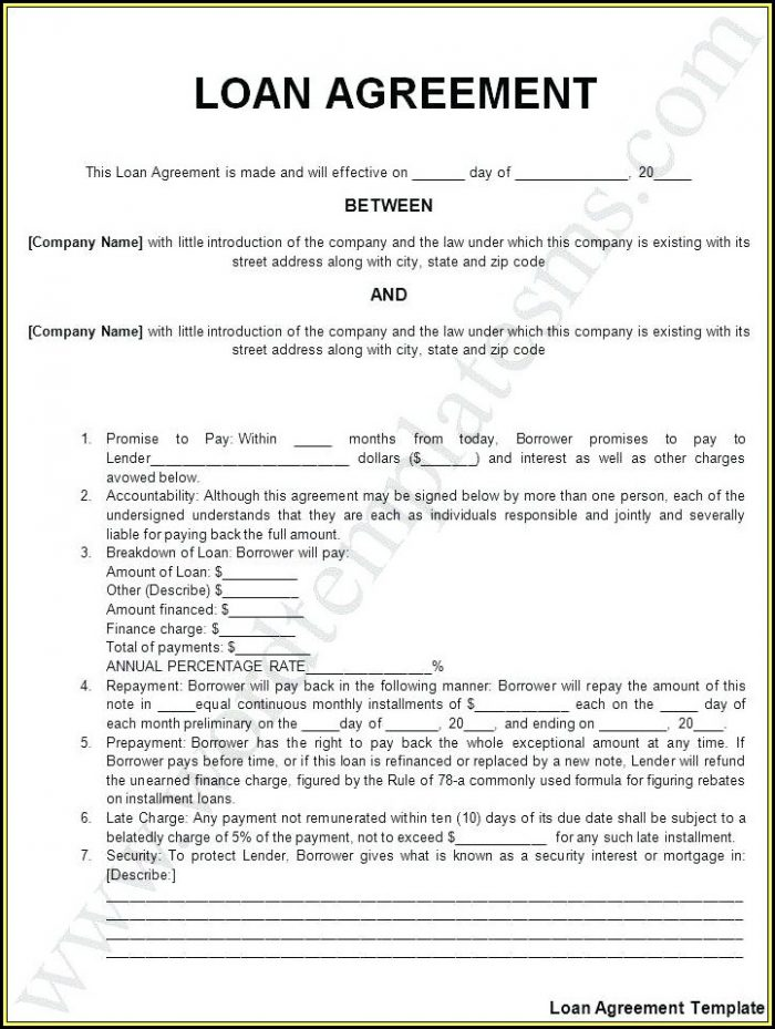 Free Loaner Car Agreement Form