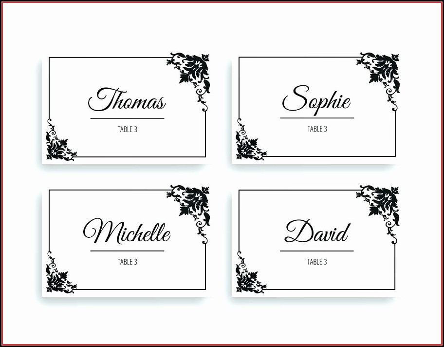 Free Name Table Tent Template