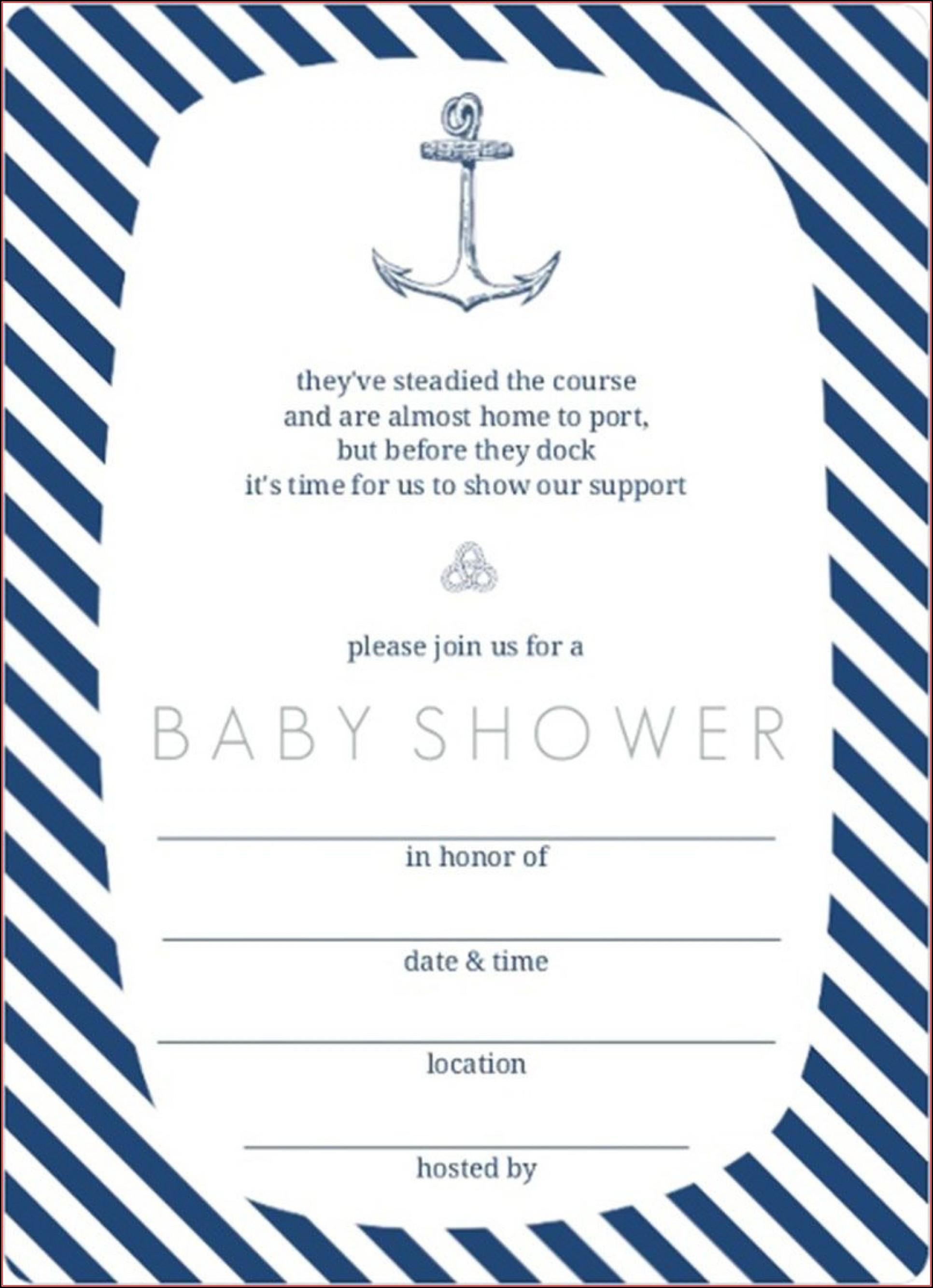 Free Nautical Baby Shower Invitation Templates
