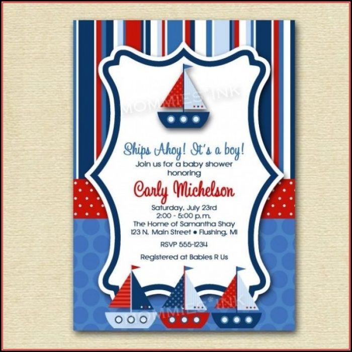 Free Nautical Birthday Invitation Templates
