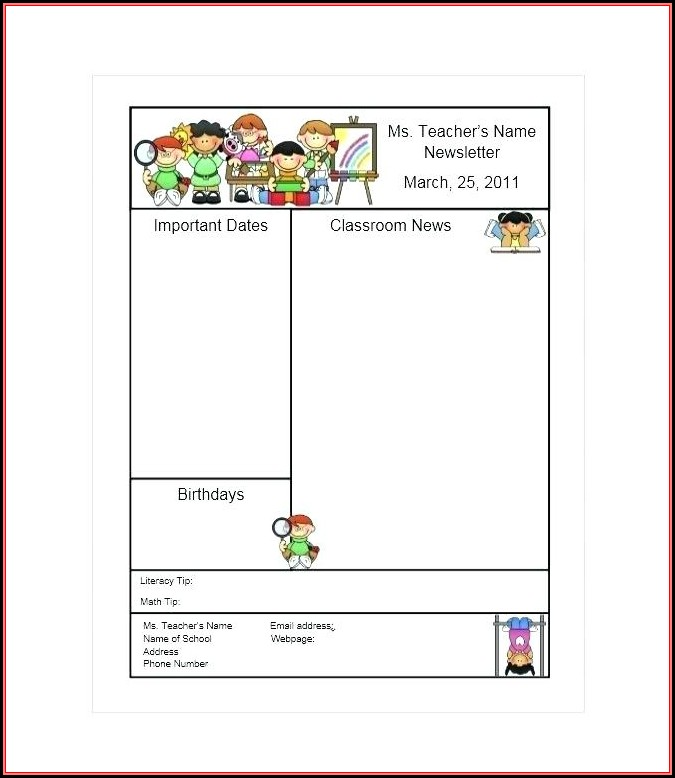 Free November Classroom Newsletter Template