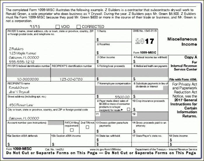 Free Printable 1099 Forms Irs.gov