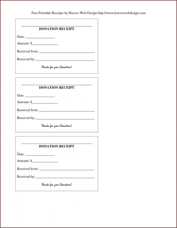 Free Printable Donation Receipt Template