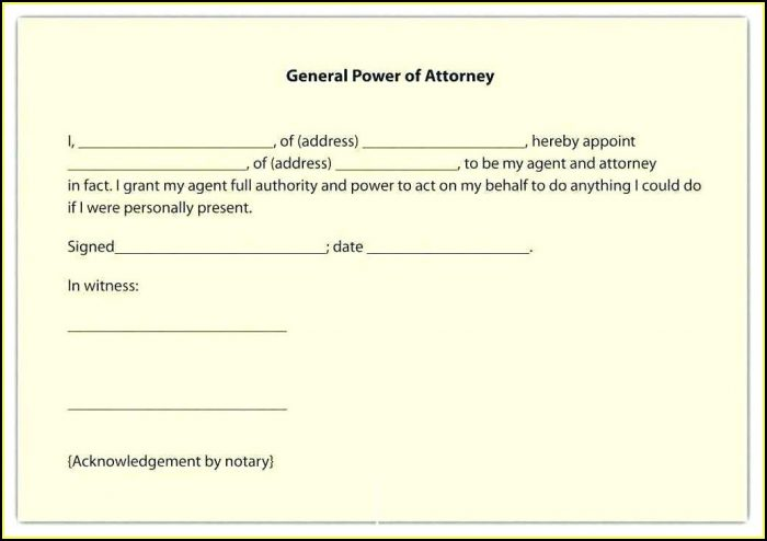 Free Printable Durable Power Of Attorney Form Texas 2018