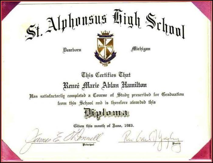 Free Printable Fake High School Diploma