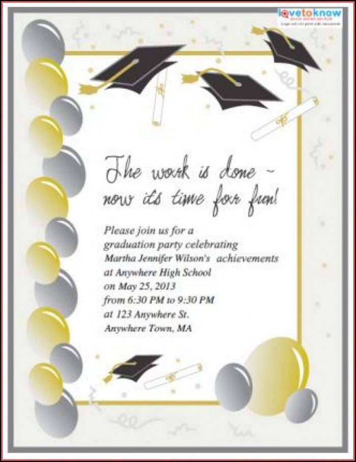 Free Printable Graduation Invitation Templates 2018