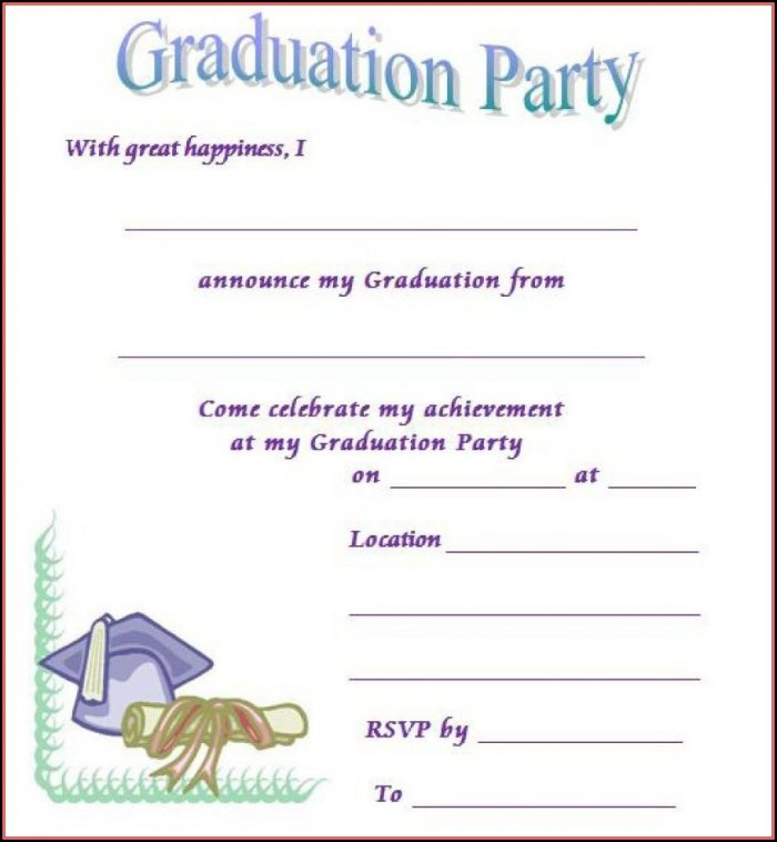 Free Printable Graduation Invitation Templates