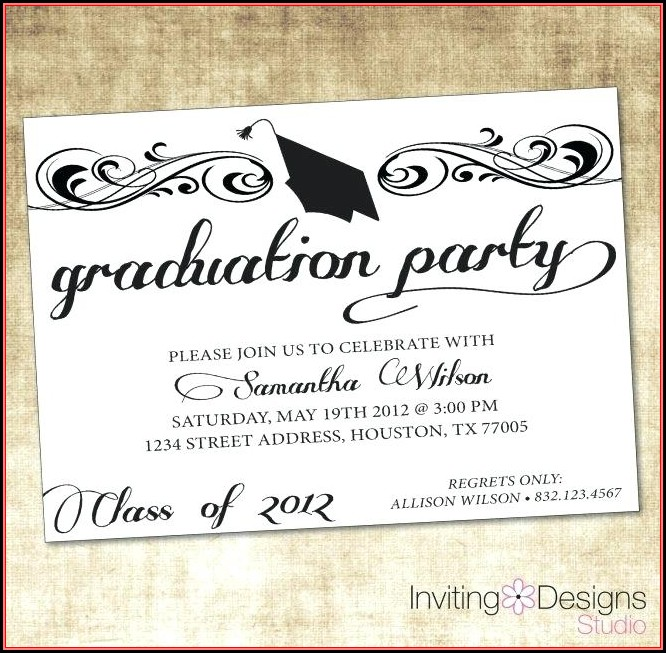 Free Printable Graduation Invitation Templates Cards