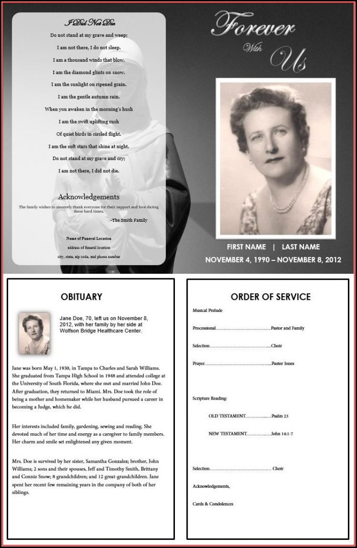 Free Printable Memorial Service Program Template