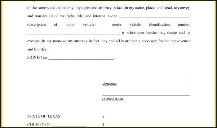 Free Printable Power Of Attorney Form Ohio