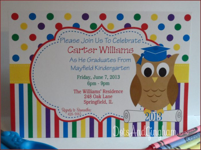 Free Printable Preschool Graduation Invitation Templates