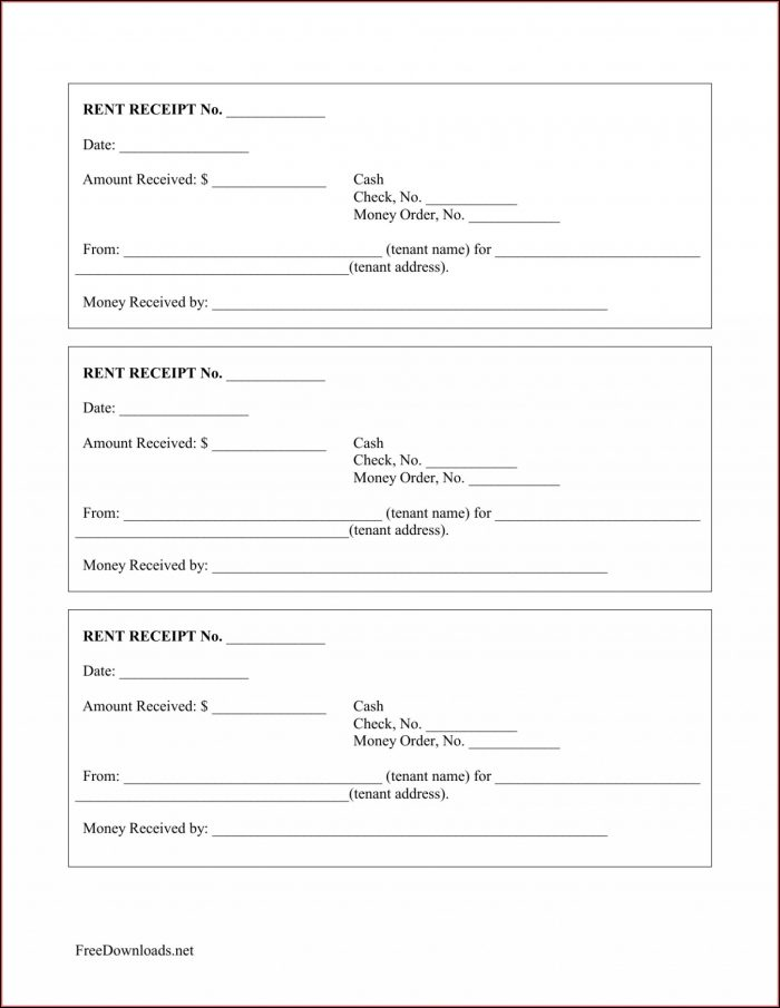 Free Printable Receipt Template Uk