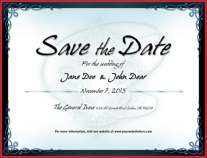 Free Save The Date Birthday Email Templates