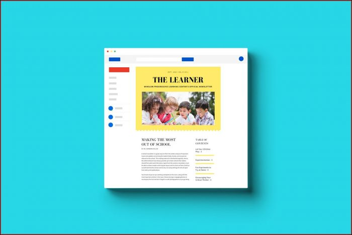 Free School Newsletter Templates Download
