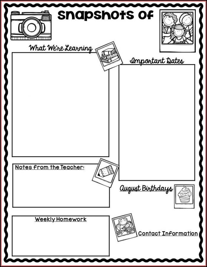 Free School Newsletter Templates For Teachers