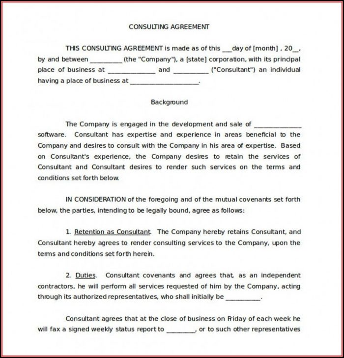 Free Simple Consulting Agreement Template Uk