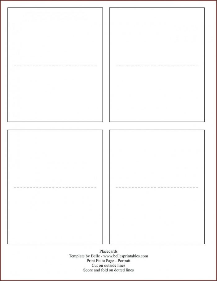 Free Table Tent Templates Printable