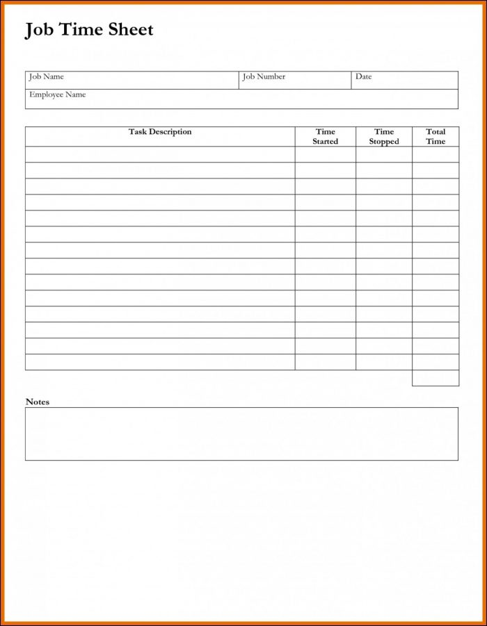 Free Weekly Timesheet Template For Multiple Employees