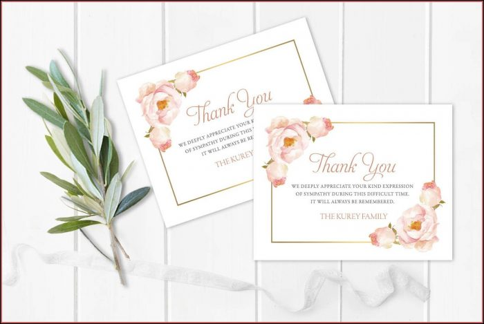 Funeral Note Cards Template