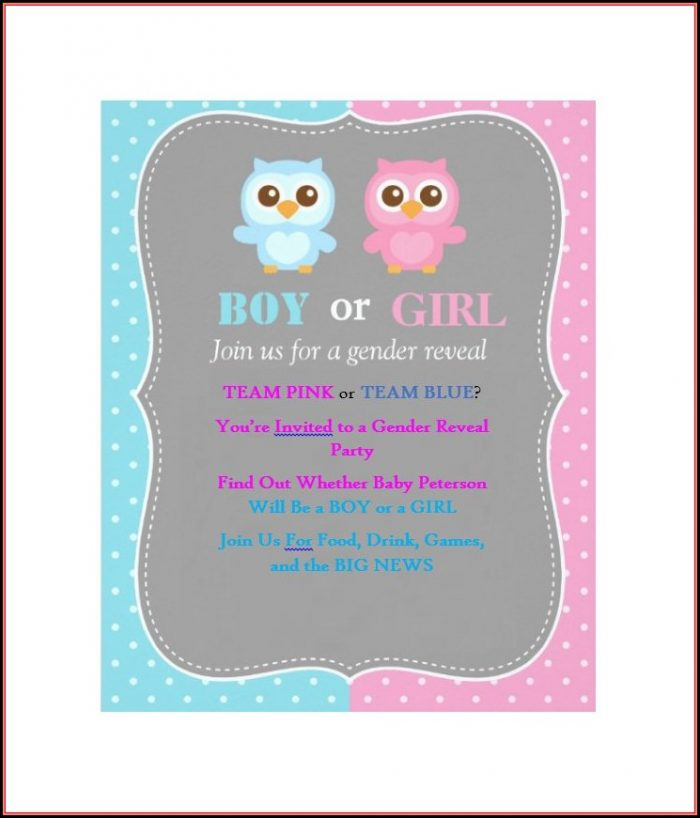 Gender Reveal Invitation Templates Free