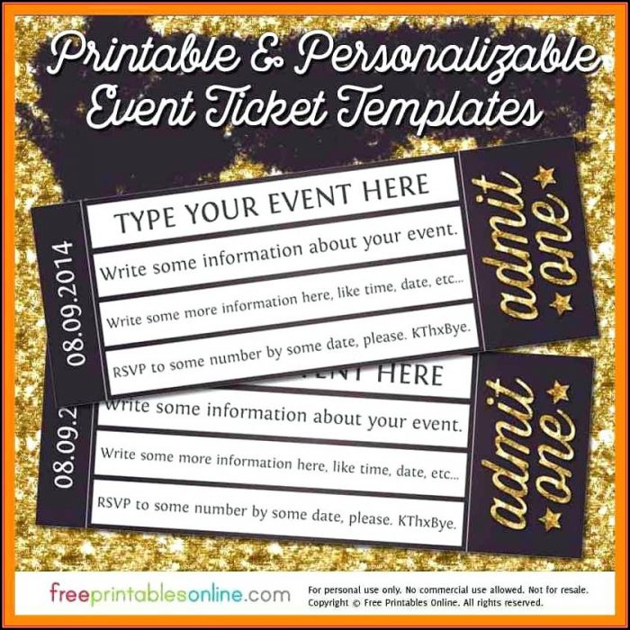 Great Gatsby Prom Ticket Template