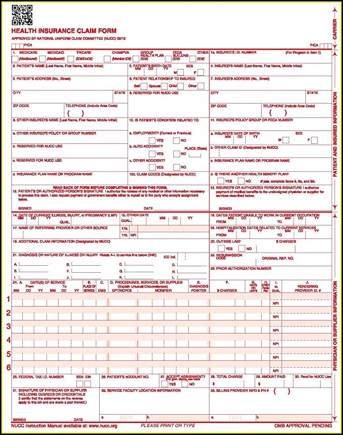 cms 1500 claim form template download