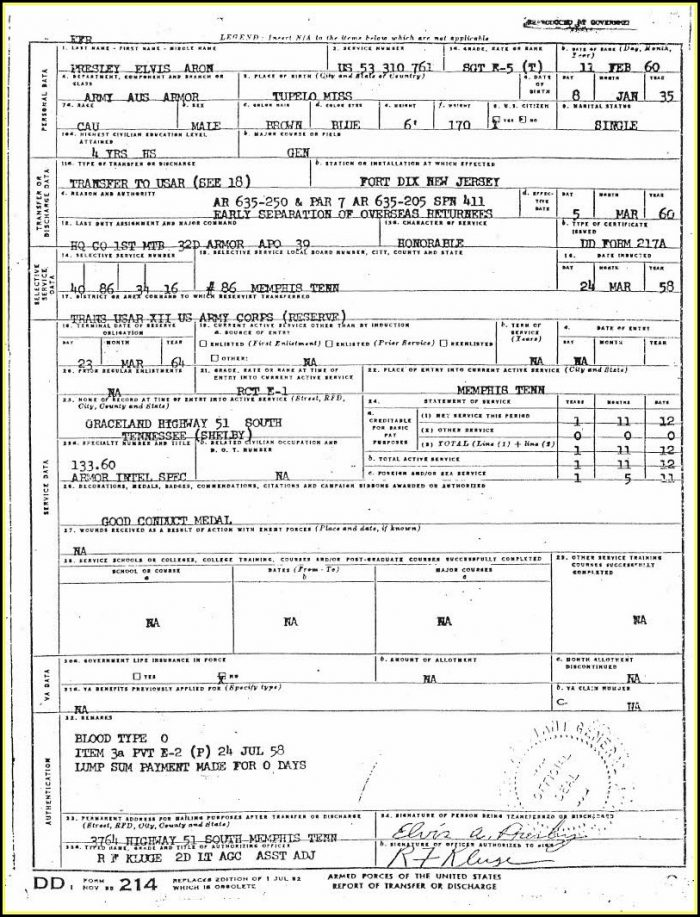 How To Request A Dd214 Form