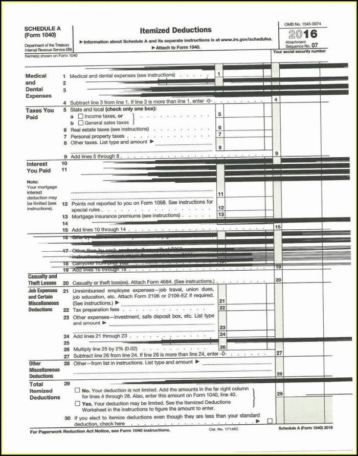 Income Tax Form 1040a 2018