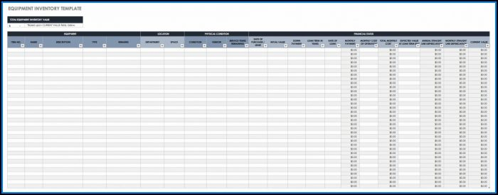 Inventory Control Spreadsheet Templates