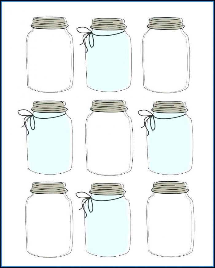 Mason Jar Invite Template Free