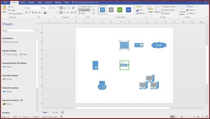 Microsoft Visio 2016 Network Diagram Templates
