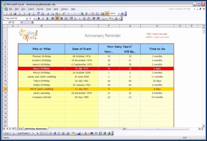 Ms Excel Templates For Project Management