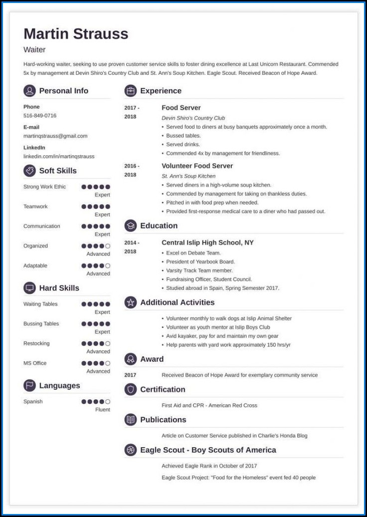 My First Resume Template Australia