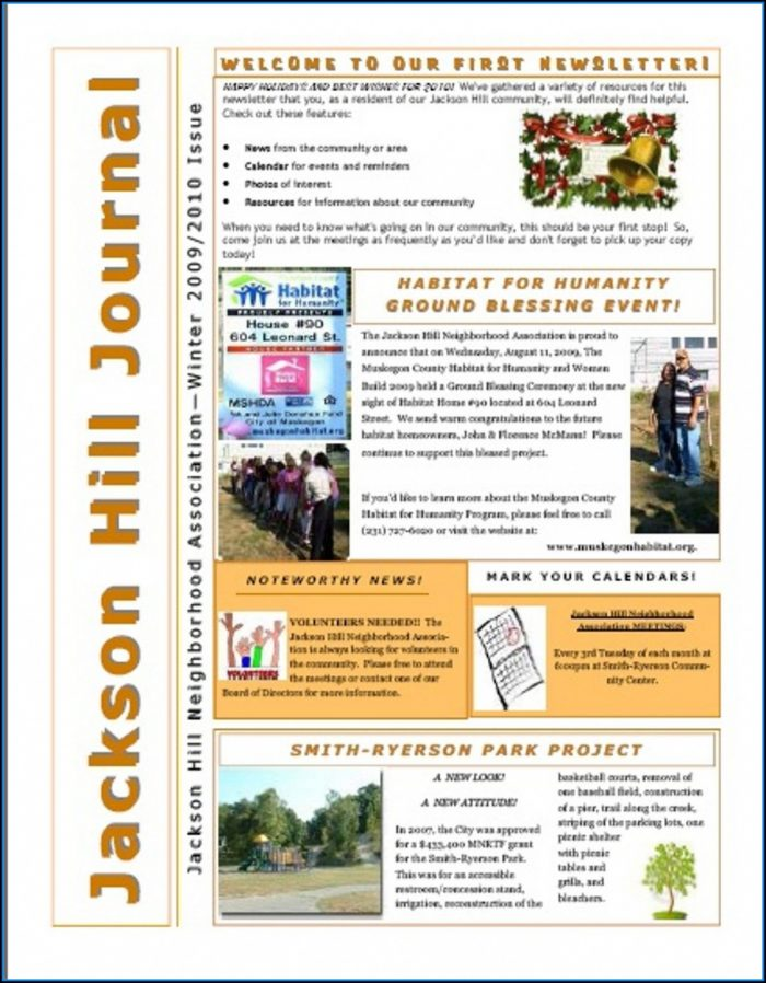Neighborhood Watch Newsletter Templates
