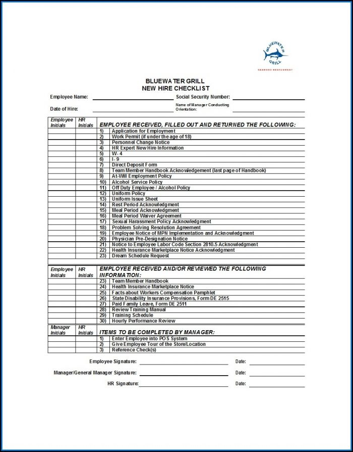 Onboarding Checklist Template Excel Free