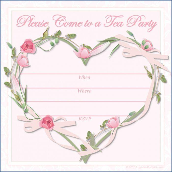 Princess Tea Party Invitation Template Free