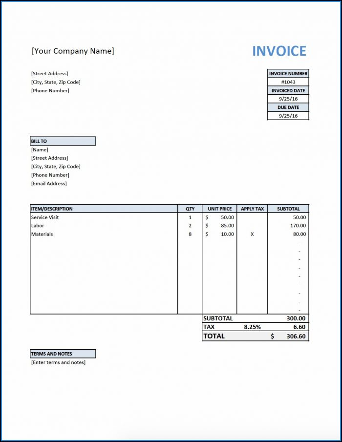 Quickbooks Online Estimate Template Download