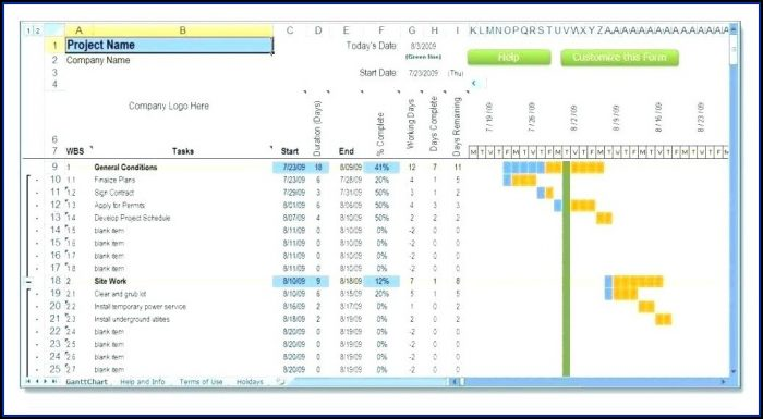 Resource And Task Management Excel Template