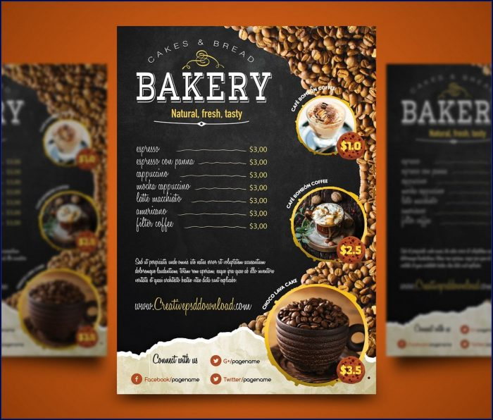 Restaurant Menu Card Design Templates Free Download