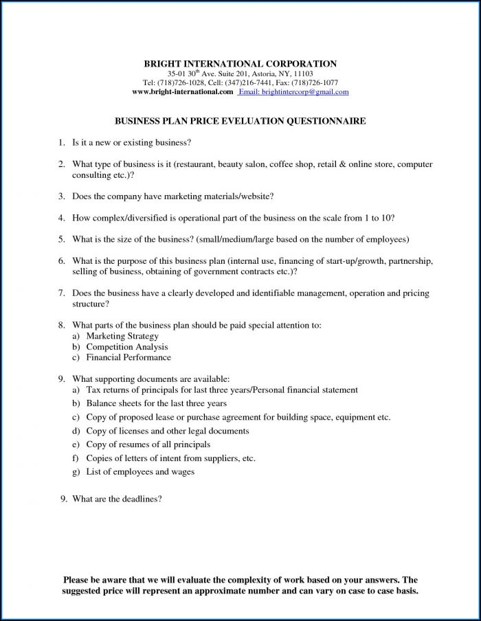 Retail Business Plan Example