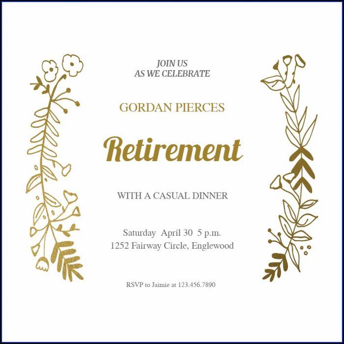 Retirement Reception Invitation Template